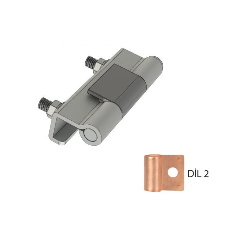 Петля металлическая приварная RZ 408-1-V2-DIL2, на электрошкафы