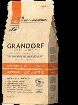 Сухой корм Grandorf Грандорф для стерилизованных котов с индейкой, 0,4 кг
