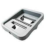 Комплект швабра с ведром с автоматическим отжимом для уборки Чудо швабра лентяйка Scratch Mop серо белая, фото 3