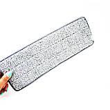 Комплект швабра с ведром с автоматическим отжимом для уборки Чудо швабра лентяйка Scratch Mop серо белая, фото 9