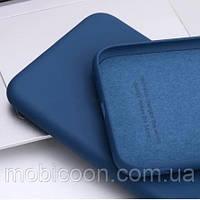 Чехол Silicone Case full для Xiaomi Redmi Note 10 Pro Navy Blue