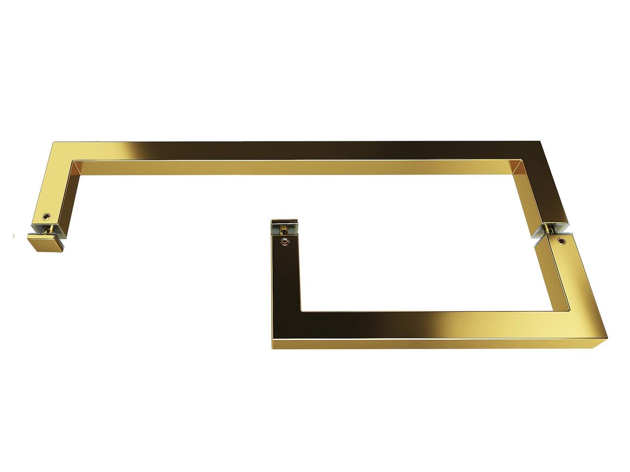ODF-13-08-10 Тримач з ручкою для дверей душової кабіни, тримач рушників, колір золото