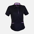 Медичний топ блуза жіноча чорна, фото 8