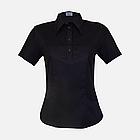 Медичний топ блуза жіноча чорна, фото 10