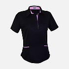 Медичний топ блуза жіноча чорна, фото 9