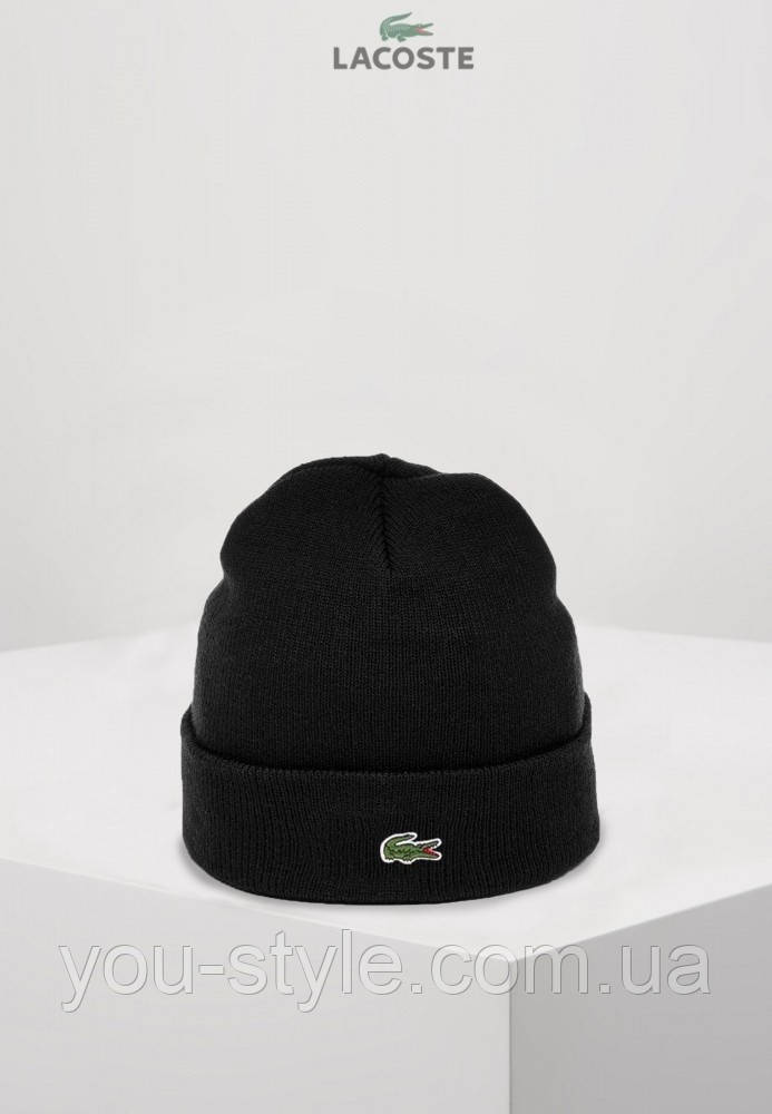 Lacoste шапка унісекс (Чорна)