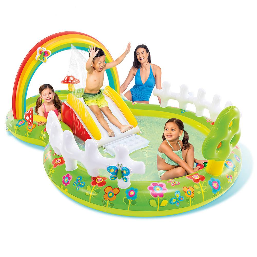 """Ігровий центр 290х180х104см """"Мій сад"""" гіркою фонтаном та іграшками, 450л від 2 років"""