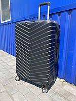 Валіза пластиковий рифлений чорний, фото 1