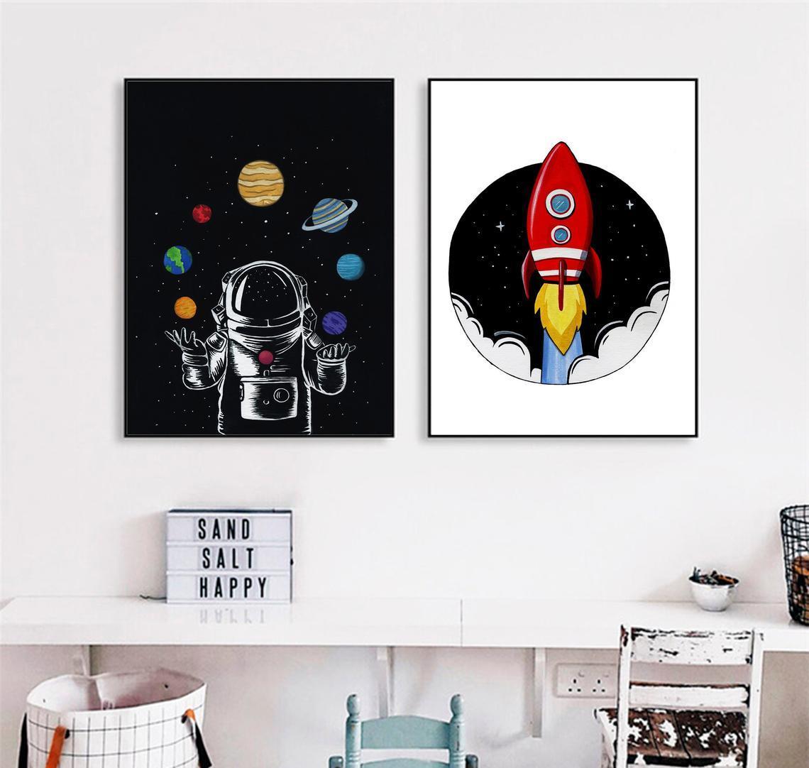 Набір постерів Ракета і космос формат А3
