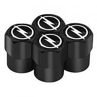 Захисні ковпачки на ніпель для Opel Alitek Short Black Опель (4 шт)