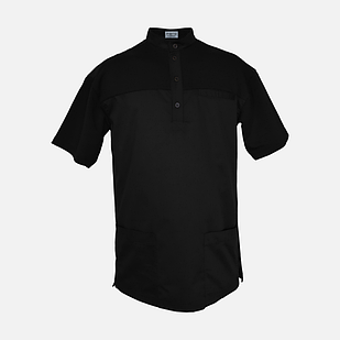 Медичний топ блуза чоловіча чорна