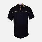 Медичний топ блуза чоловіча чорна, фото 4
