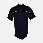 Медичний топ блуза чоловіча чорна, фото 3