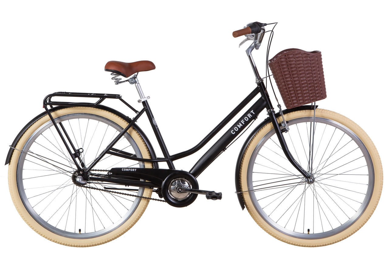 """Велосипед 28"""" Dorozhnik COMFORT FEMALE планет. 2021 (черный (м))"""