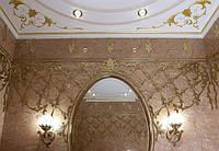 Фигурная лепка, позолота фрагментов потолка и интерьера: продажа