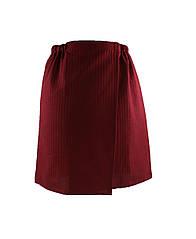 Килт (парео) мужской вафельный на липучке,  бордовый, Sauna Pro