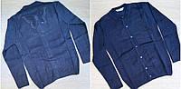 Интересная школьная кофта для девочек, р. 9-14 лет, синий