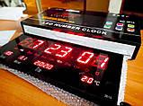 Настенные цифровые электронные часы для дома VST-3615 RED светящиеся, Часы будильник светодиодные, фото 5