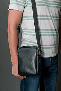 Чоловіча сумка Модель №64 лайт, гладка шкіра, колір Чорний
