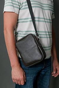 Чоловіча сумка Модель №64 лайт, гладка шкіра, колір Шоколад