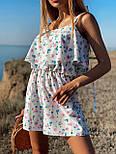 Жіночий літній комбінезон з шортами і воланом на грудях (р. 42-44) 22101930, фото 5