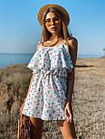 Женский летний комбинезон с шортами и воланом на груди (р. 42-44) 22101930, фото 2