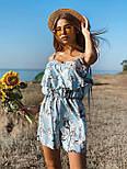 Женский летний комбинезон с шортами и воланом на груди (р. 42-44) 22101930, фото 4
