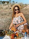 Жіночий літній комбінезон з шортами і воланом на грудях (р. 42-44) 22101930, фото 7