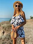 Женский летний комбинезон с шортами и воланом на груди (р. 42-44) 22101930, фото 3