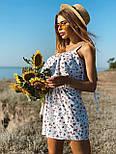 Жіночий літній комбінезон з шортами і воланом на грудях (р. 42-44) 22101930, фото 8