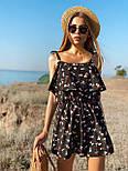 Жіночий літній комбінезон з шортами і воланом на грудях (р. 42-44) 22101930, фото 6