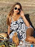 Женский летний комбинезон с шортами и воланом на груди (р. 42-44) 22101930, фото 10