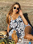 Жіночий літній комбінезон з шортами і воланом на грудях (р. 42-44) 22101930, фото 10