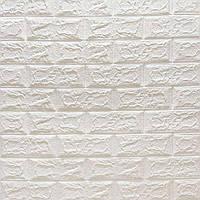 М'яка самоклеюча 3Д панель 700*770*4 мм. для стін біла матова
