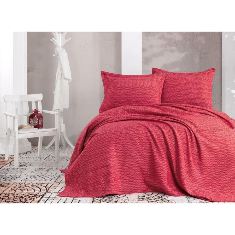 Покривало з наволочками Eponj Home піку - Venus kirmizi червоний 230*240