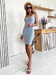 Облегающее платье майка с разрезом на ноге (р. 42-44) 22032682, фото 7