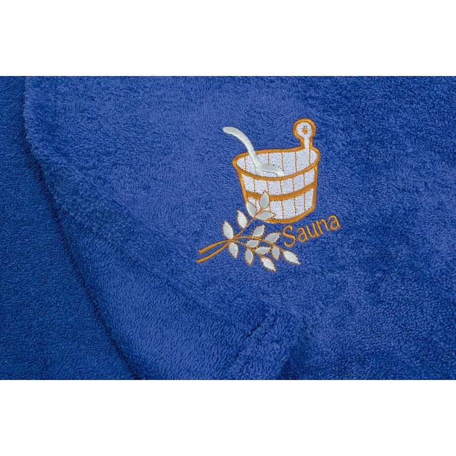 Парео для сауны Lotus - Синий 65*145
