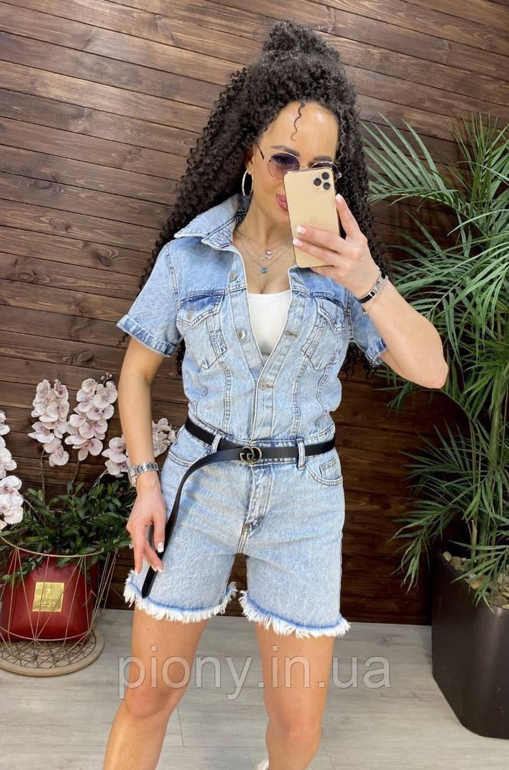 Жіночий Комбінезон з джинса