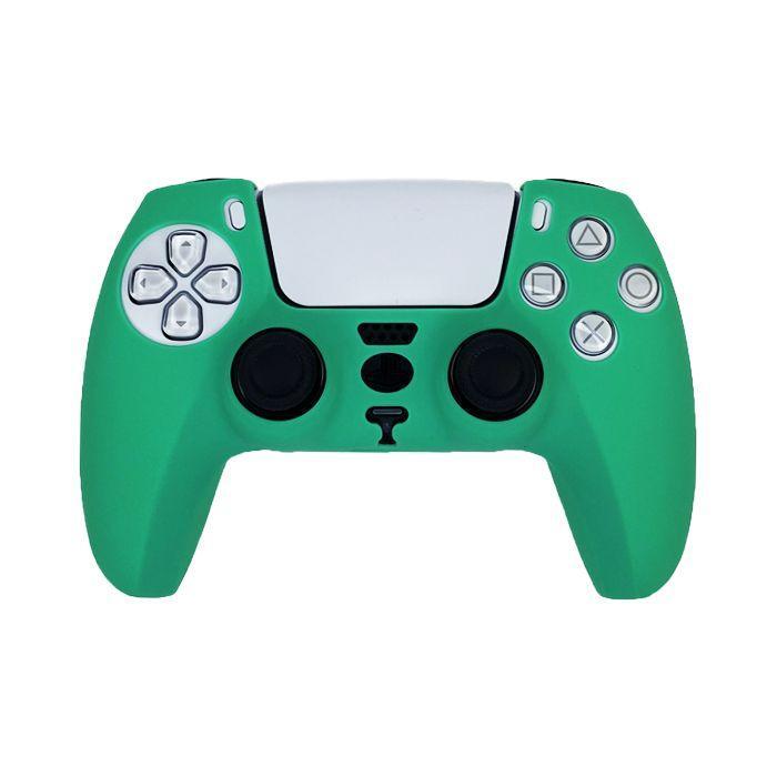 Силиконовый чехол для джойстика Sony PlayStation PS5 Type 7 Green тех.пак