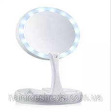 Зеркало для макияжа My Fold Jin Ge JG-988 с подсветкой, фото 3