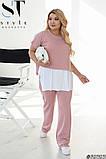 Жіночий брючний костюм майка і штани вільного фасону розмір: 42-44, 46-48, 50-52, 54-56, 58-60, фото 3