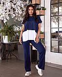 Жіночий брючний костюм майка і штани вільного фасону розмір: 42-44, 46-48, 50-52, 54-56, 58-60, фото 6