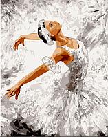 Набір картина за номерами Грація танцю 40х50см, розпис акриловими фарбами, кисті, полотно, фото 1