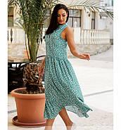 / Розмір 46-48,50-52,54-56,58-60 / Жіноче літнє плаття А-силуету з легкої натуральної тканини / 1033-бірюза, фото 2