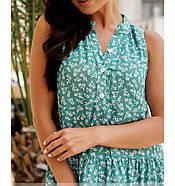 / Розмір 46-48,50-52,54-56,58-60 / Жіноче літнє плаття А-силуету з легкої натуральної тканини / 1033-бірюза, фото 4