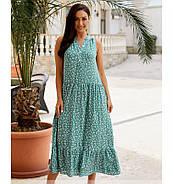 / Розмір 46-48,50-52,54-56,58-60 / Жіноче літнє плаття А-силуету з легкої натуральної тканини / 1033-бірюза, фото 3