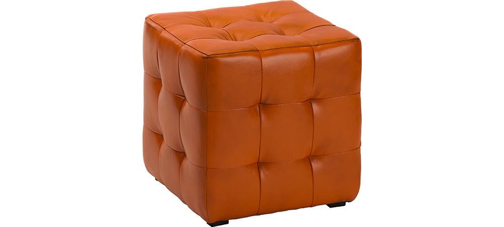 Пуф Токио Оранжемый,пуфик,пуфики,пуф кожзам,пуф экокожа,банкетка,банкетки,пуф куб,пуф фото,пуфік