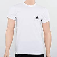 Мужская хлопковая футболка с накаткой Adidas (реплика) Белый