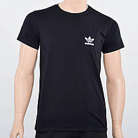 Чоловіча футболка бавовняна з отражайкой Adidas (репліка) Чорний