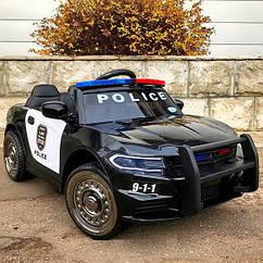 Дитячий електромобіль T-7654 EVA Dodge Поліція Чорний